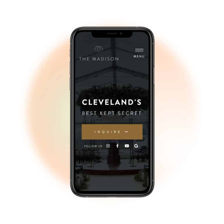IPHONE web-design-project-for-event-venue-in-Toronto-Ontario