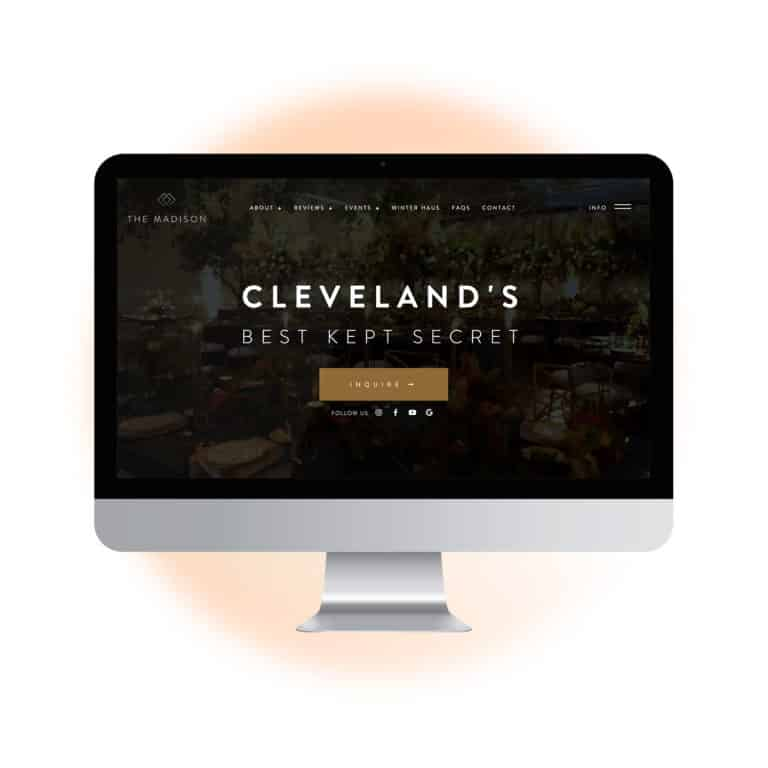 Web Design Mississauga | Affordable Custom Website Design Mississauga | imac web design project for event venue in Toronto Ontario