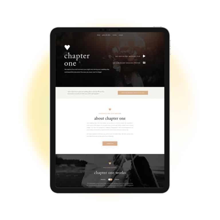 ipad web-design-project-for-photographer-in-Toronto-Ontario